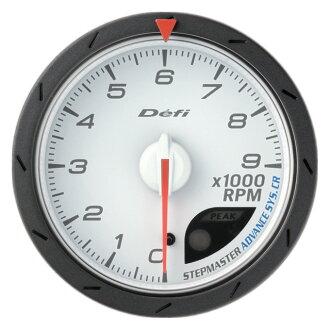 面的連結 (推遲) 先進的 CR 測速儀。 轉速計 60 PI 白色