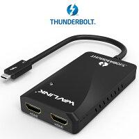 【送料無料】Wavlink サンダーボルト3 HDMIアダプター デュアル4K シングル5K ディスプレイアダプター Thunderbolt 3 Dual 4K or Single 5K HDMI Adapter Mac&Windows 対応(USB-Cとは非対応となります)
