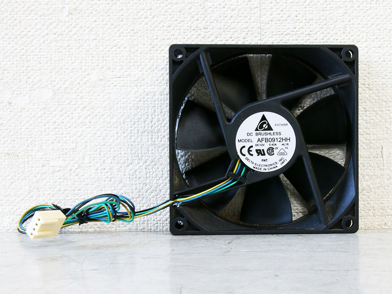 AFB0912HH Delta Electronics 冷却ファン 12VDC 92mm x 92mm x 25.40mm【中古】【送料無料セール中! (大型商品は対象外)】