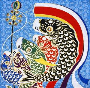 鯉のぼり シャンタン タペストリー ふろしき コンパクト