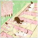 【 捺染 手ぬぐい 】日向ぼっこ 桜 [ 日本のかたち 猫 ねこ ネコ サクラ さくら タペストリー 和風 インテリア 飾り ディスプレイ ディスプレー 四季 季節 春 4月 日本土産 日本 みやげ]
