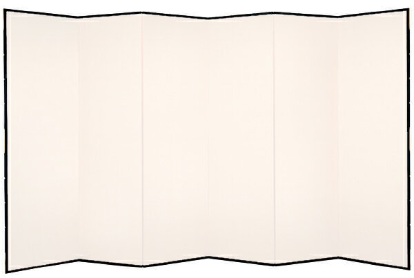 【日本製!】屏風(鳥の子・木製格子) 7尺6曲鳥の子屏風(びょうぶ)/無地屏風/和紙屏風/衝立(ついたて)/間仕切り(パーテーション)/和家具【全国送料無料】【代引き手数料無料】:わざっか本舗