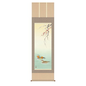 Hanging scroll Hanging scroll Hanago [Shakugotachi] Oshio Oshidori (Ukida Akui) Free national shipping free cash on delivery fees Seasonal winter mail order products produced after ordering