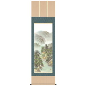 Hanging scroll hanging scroll Yamakawa Mizuaki (colored sansui) Itokeizan Shakugotate (54 × 190cm) ) Significant renewal of paintings and surface decoration Free shipping COD fee free tomorrow Free wrapping
