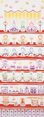 [和布華(わふか)]手ぬぐい ひな壇飾り【日本手拭い(てぬぐい)・お雛様・ひな人形・桃の節句・…
