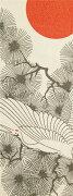 【手ぬぐい・メール便送料無料対象商品♪】[和布華(わふか)]丹頂鶴(金糸)【日本手拭い(てぬぐい)・お正月・縁起物・和風】手ぬぐい専門店「わざっか本舗」