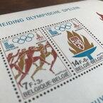 【送料無料】モスクワオリンピック 1980 未使用 記念切手 記念シート