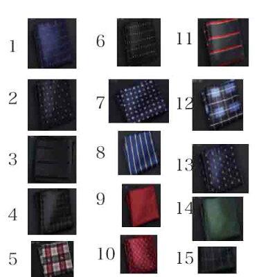 【5/24(日)21:00】【40名様】【1円感謝企画】 ポケットチーフ 15種類 メンズ ポリエステル プレゼント 画像1