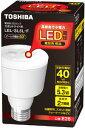 東芝 電球形LEDランプ スポットライト形 電球色相当 LEL-SL5L-F