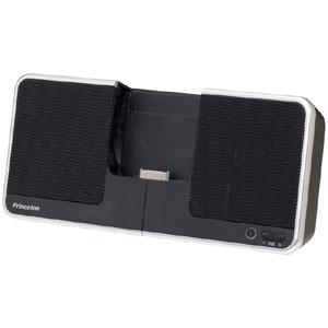 【送料無料】プリンストン iPhone 3G/iPod用ポータブルスピーカー ブラック PSP-ISB【smtb-u】