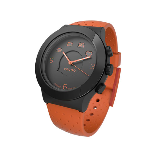 CONNECTEDEVICE Bluetooth SMART対応アナログ腕時計 COGITO FIT ORANGE BLACK CW3.1-0...
