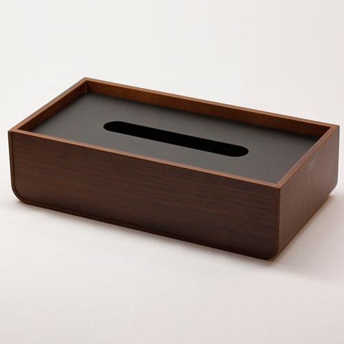ヤマト工芸 ティッシュケース U YK12-003-Bk ブラック