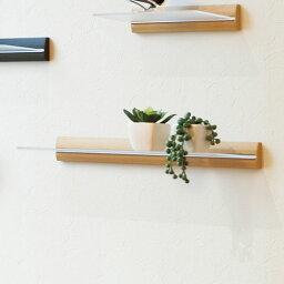 ウォールシェルフ スリム ナチュラル 40cm幅 MR401 【ウォールラック 壁付け 棚 インテリア 壁面収納 ディスプレイラック】