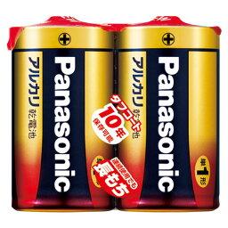 パナソニック PANASONIC アルカリ乾電池 単1 2本パック LR20XJ/2SE