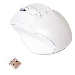 ナカバヤシ Digio2 小型無線マウス Z 5ボタン ブルーLED ホワイト MUS-RKF119W