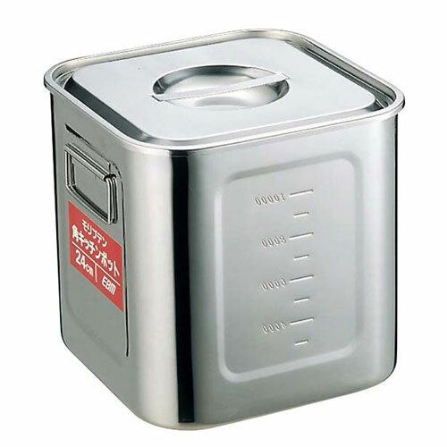 EBM モリブデン 角型キッチンポット 目盛付 36cm 4874500【smtb-u】:Webby