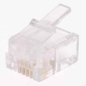 オーム電機 モジュラープラグ アダプター 6極4芯用 電話線 コネクタ 有線 2個入 TP-1920