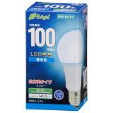 オーム電機 LED電球 E26 100形相当 全方向 昼光色 LED5年保証対象 LDA12D-G AG27