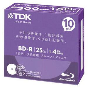 【3500円以上お買い上げで送料無料】TDK 4倍速データ用BD-R 25GB ブルーレイディスク ホワイト ...