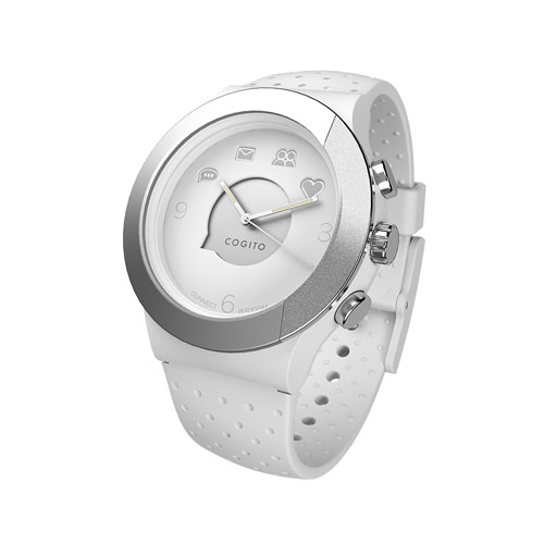 CONNECTEDEVICE Bluetooth SMART対応アナログ腕時計 COGITO FIT WHITE SILVER CW3.1-0...