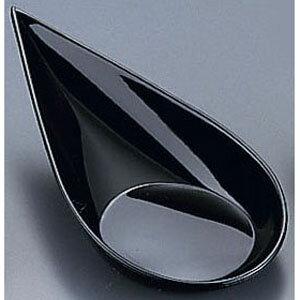 【5000円以上お買い上げで送料無料】ソリア 雫型スプーン (40個入) PS30363 ブラック NSL2503