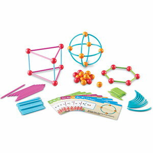 "【送料無料】Learning Resources Dive into Shapes!(TM) A ""Sea"" and Build Geometry Set 挿して繋げて! 2D&3D図形を作ろう! LER 1773画像"