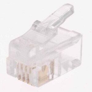 オーム電機 モジュラープラグ アダプター 4極4芯用 電話線 コネクタ 有線 2個入 TS-1921
