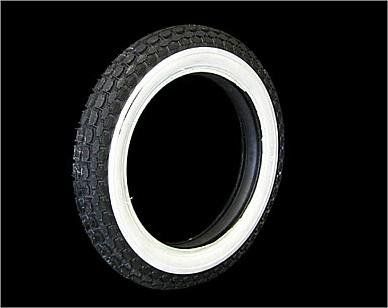 部品屋K&W BECK 3/4ホワイトウォールタイヤ 【4.00-18】 ベック タイヤ画像