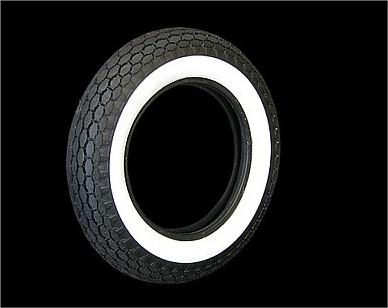 部品屋K&W BECK 2インチホワイトウォールタイヤ 【5.00-16】 ベック タイヤ 汎用画像