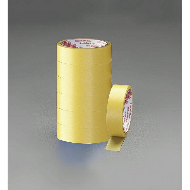 ESCO エスコ TOP 18mmx18m塗装用クレープマスキングテープ(7巻)