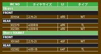 【セール特価!】オフロード・トライアルIRCTR-011TOURIST【4.00-1864PTL】ツーリストタイヤリア用br4.00-1864PTL