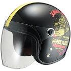 RIDEZライズJrSPARKPLUGS(ジュニアスパークプラグス)ジェットヘルメット
