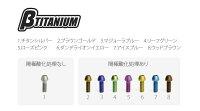 βTITANIUMベータチタニウムその他外装関連パーツフロントキャリパーマウントボルトキットカラー:シルバー(処理無し)ZX-6R(13-17)
