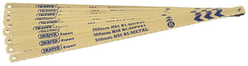 DRAPER ドラッパー DRAPER EXPERT 10 x 300mm 18tpi BIメタルハックソーブレード【DRAPER Expert 10 x 300mm 18tpi Bi-Metal Hacksaw Blades】【ヨーロッパ直輸入品】画像