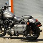 DEGNERデグナーサドルバッグ・サイドバッグシンセティックレザーサドルバッグカラー:ブラック