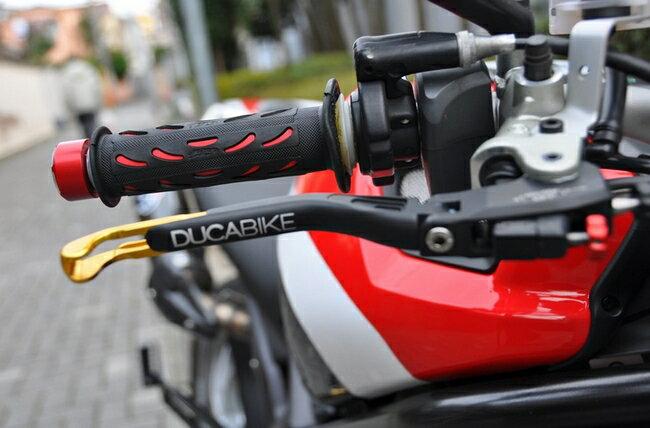 DUCABIKE ドゥカバイク ダブルアジャスタブル・ブレーキ&クラッチ レバー カラー:シルバー