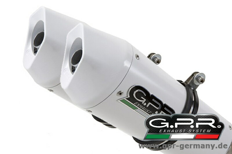 パーツ, マフラー GPR GPR ALBUS CERAMIC (HONDA VTR 1000 SP-1 RC51 2000-01 HIGH LEVEL SLIP ON DOUBLE MUFFLER EXHAUST) VTR1000SP