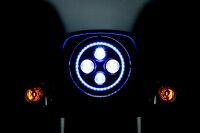 Kuryakynクリアキンヘッドライト本体・ライトリム/ケースLEDヘッドライトエレクトラグライド・ロードキング・ストリートグライド・トライク94-17、FLソフテイル(7インチヘッドライト)91-17、スイッチバック12-16