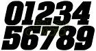 BONSAIMOTOボンサイモトステッカー・デカールゼッケンステッカー小サイズカラー:ブラック数字:0