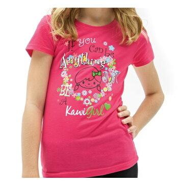 """【在庫あり】北米カワサキ純正アクセサリー ユーズ KAWI GIRL(TM) """"If You Can Be Anything""""Tシャツ (Youth Kawi Girl(TM) If You Can Be Anything) サイズ:MD"""