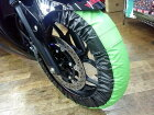RidingHouseライディングハウスタイヤ関連工具【RISE】タイヤ保護カバー/まもる君17inc用カラー:グリーン/ブラック