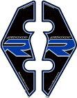 MOTOGRAFIXモトグラフィックスステッカー・デカールフロントフェンダーキットカラー:ブラック/ブルーS1000RR(14-16)