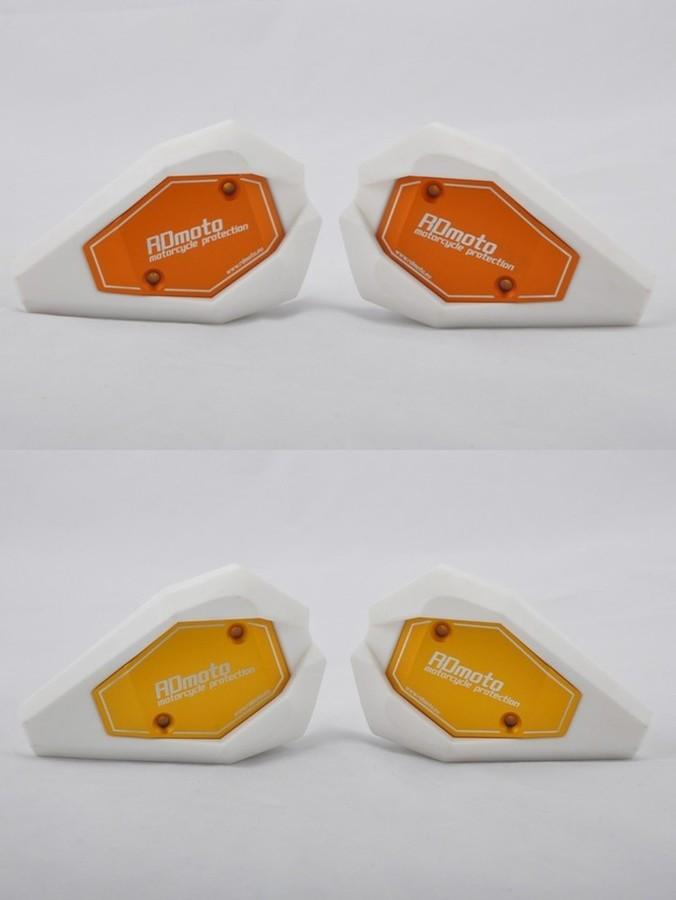 RDmoto アールディーモト ガード・スライダー Crash sliders Base Color:white Color:silver aluminium anodized CB500F