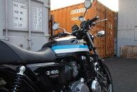 DOREMICOLLECTIONドレミコレクションタンクペイント済スチールタンクセットFXタイプカラー:E3エボニー(黒+ライン)シート:後期タイプシートZEPHYR400