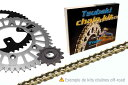 ツバキ チェーン Tsubaki Chain kit HONDA CRF250R (520 MX type 2 PRO GIS)【ヨーロッパ直輸入品】 13 51 CRF250R (250) 04-10