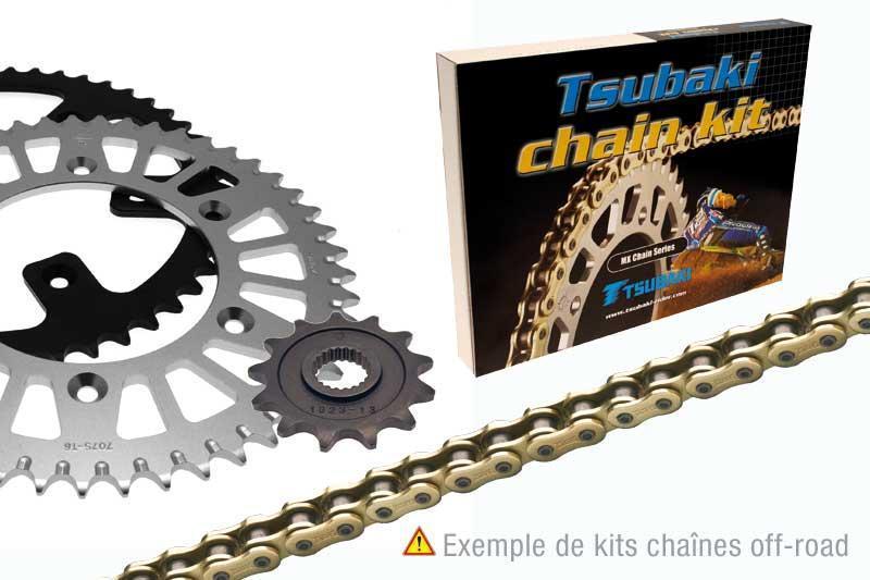 ツバキ チェーン Tsubaki Chain Kit (525-type OMEGA ORS)【ヨーロッパ直輸入品】 13 40 EXC-F350 (350) 11-13