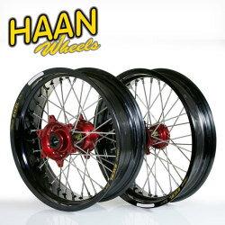 HAAN WHEELS ハーンホイール ホイール本体 フロント・リアモタードコンプリートホイール F3.50/16...
