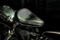 部品屋K&Wシート本体専用ソロシートキットスプリングタイプ(本革サドルシート)カラー:黒SR400:SR500