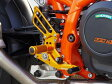 【在庫あり】【イベント開催中!】 BABYFACE ベビーフェイス バックステップキット ゴールド KTM 690 DUKE 12-