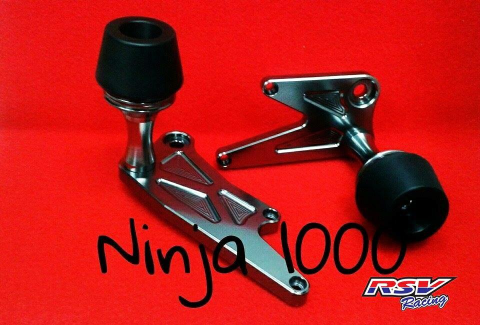 RSV racing アールエスブイレーシング ガード・スライダー フレームスライダー NINJA1000用 カラー:green Ninja1000 all year